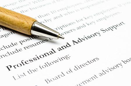 advisory: Professional ans advisory support Stock Photo