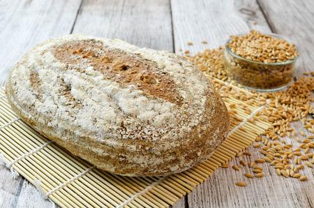 Leaven spells bread with spelled grain 스톡 콘텐츠