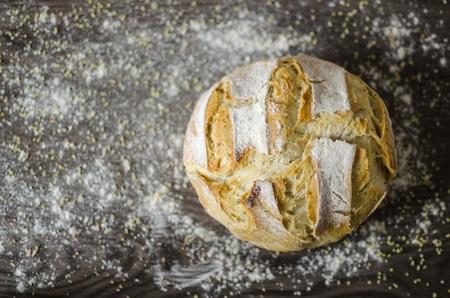 Homemade white organic vegan bread Stock Photo