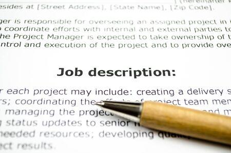 Descrizione del lavoro con penna di legno