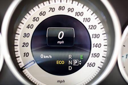Close up dashboard or mileage car Stock Photo