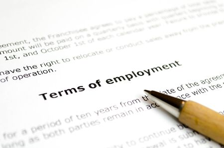 Terms of employment with wooden pen