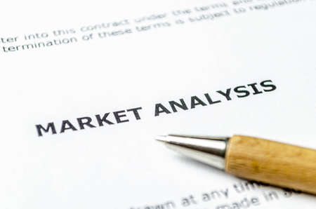 Market analysis with wooden pen