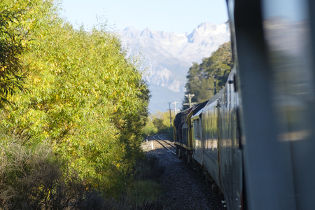 Transalpine Train on the South Island of New Zealand