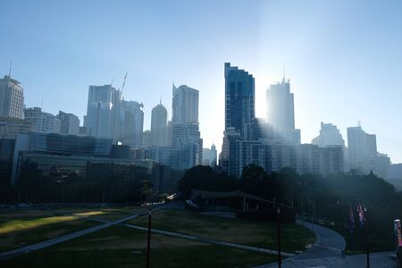 Sydney, NSW, Australia - November 19th 2019: Smoke over Sydney due to bush fires on edge of city Editorial