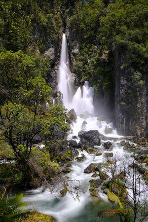 Tarawera Falls, Bay of Plenty, North Island New Zealand Stock Photo