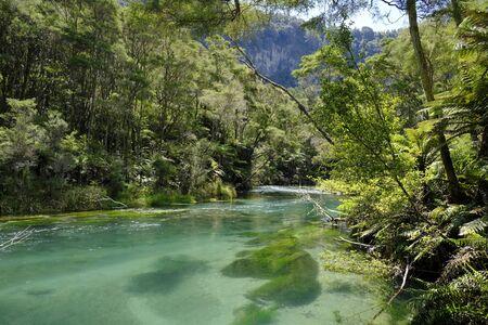Tarawera River, Bay of Plenty, North Island New Zealand Stock Photo