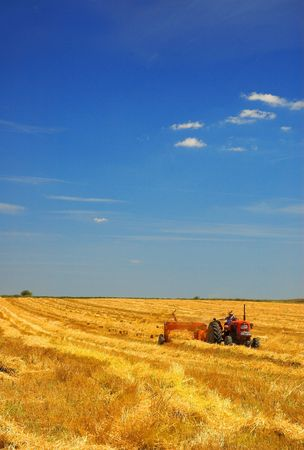 Harvest - Tractor in the Field photo