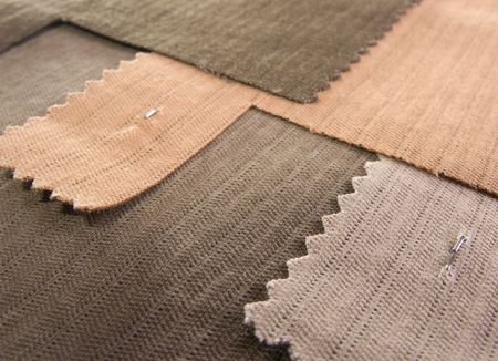 Samples of textile Stock Photo