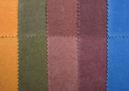 Palette color samples of cotton materials