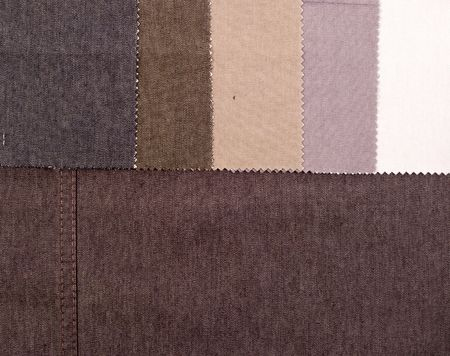 Palette samples of cotton materials