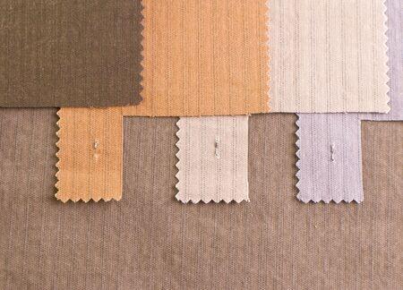 Textile cotton samples