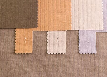 Textile cotton samples