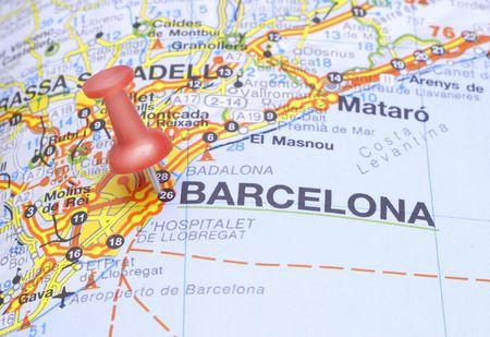pushpin: Pushin suggests destination Barcelona, Spain