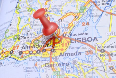 Red Pushin suggests destination Lisboa - Portugal Stock Photo - 6409401