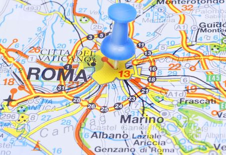 Blue Pushin suggests destination Rome, Italy