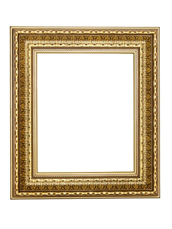 gold-patterned frame for a picture on a white background Stock Photo - 9751445