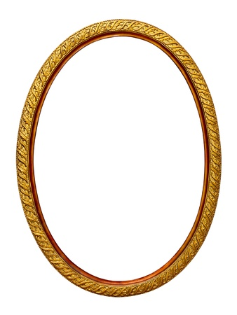 gold-patterned frame for a picture on a white background