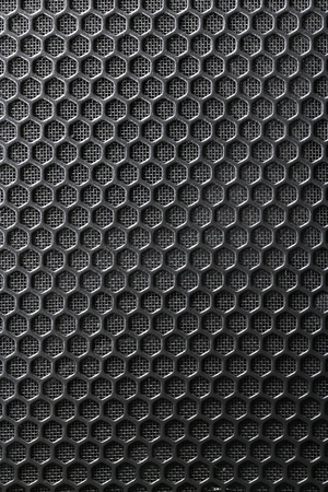 platinum metal: Black Iron Grill and the substrate from the grid as a background Stock Photo