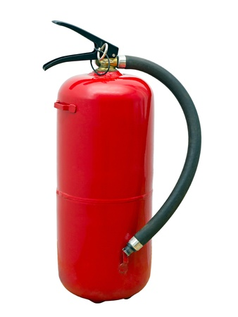 rode brandblusser geïsoleerd op witte achtergrond