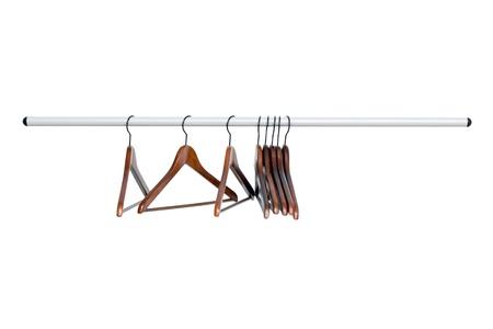 Schouder op de hanger op een witte achtergrond Stockfoto - 12025802