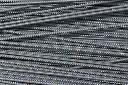 image iron reinforcement rods in the background