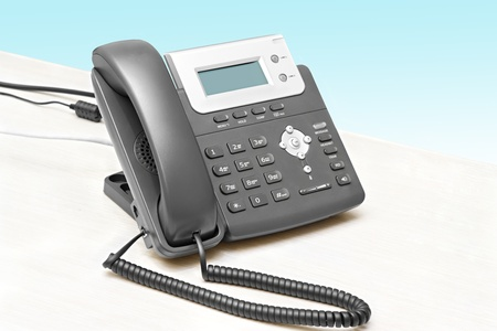 IP phone with a display table at the isolated