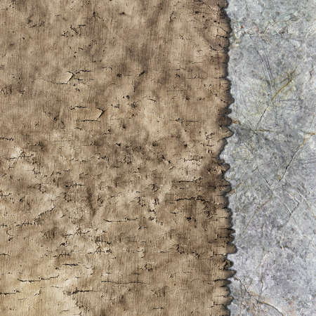 texture of old parchment and stone as background photo