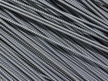 iron reinforcement rods in the background Stock Photo