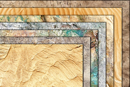 sandy soil: grunge background of natural textures superimposed