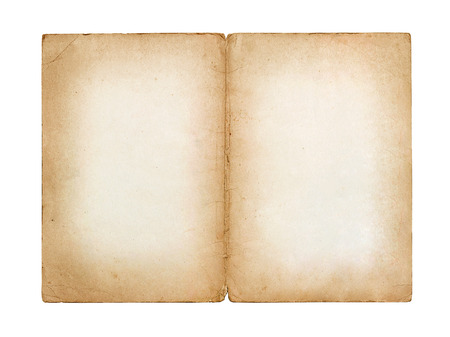 forefathers: old vintage sheet of paper isolated on white background