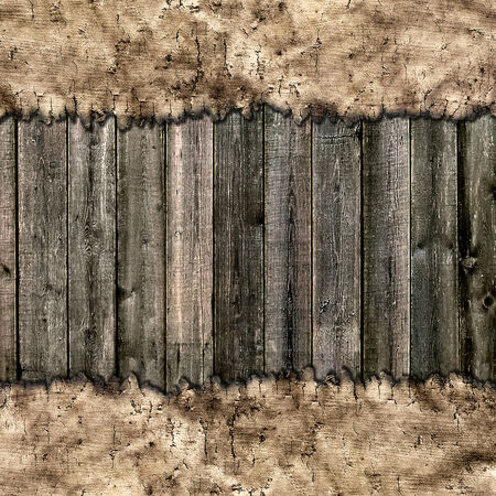 ancient map on wooden grungy background Stock Photo