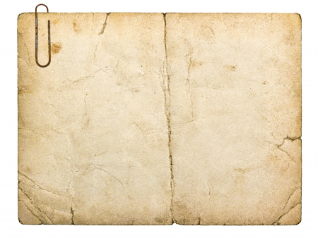 old paperboard card isolated on white background Stock Photo