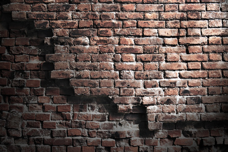 crumbling: old crumbling brick sighest grunge style