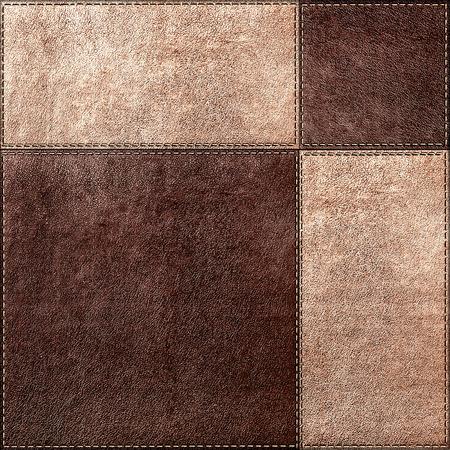Naadloze textuur combinatie van leer pleinen in vintage stijl Stockfoto - 29873259