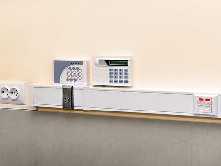panel de control: Panel antirrobo y alarma de incendio