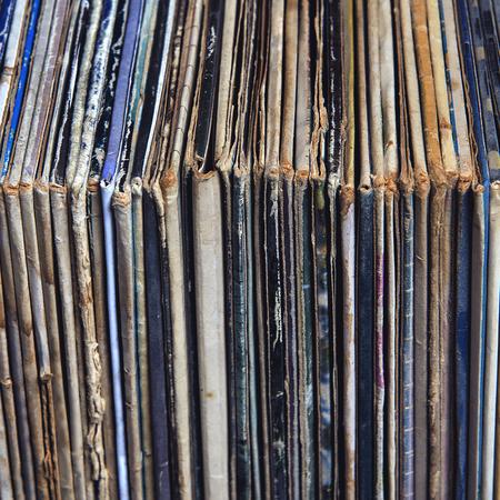 stack of vinyl records in envelopes photo