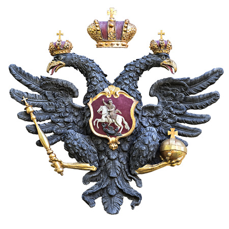 doubleheaded: Russian double-headed eagle isolated on white background