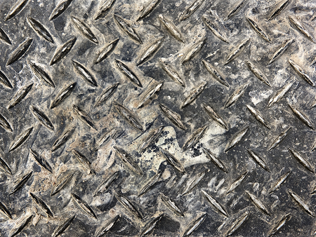 corrugated metal: corrugated metal sheet stained as background Stock Photo