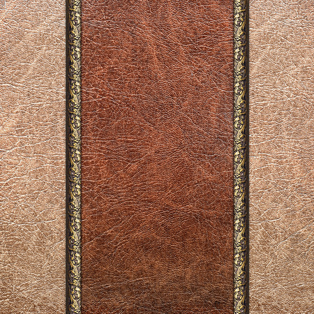 backstitch: Combined stitched leather background in vintage style