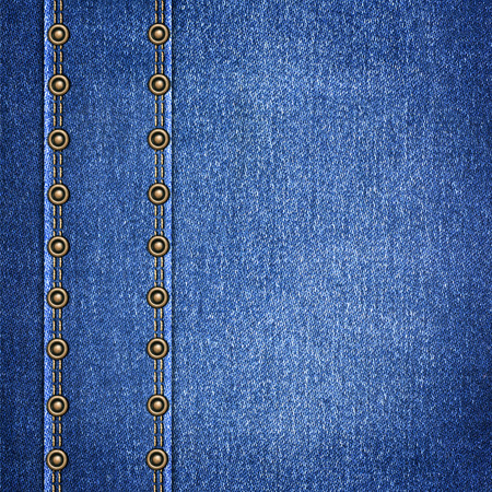 leather label: background simple denim with leather label close-up