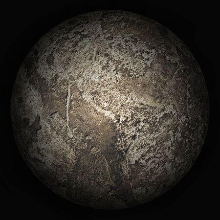 Arbitrary lifeless planet on a black background
