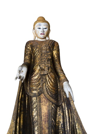 Stand Gold buddha  Stock Photo - 12340522