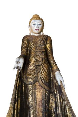 spirituell: Stand Gold buddha