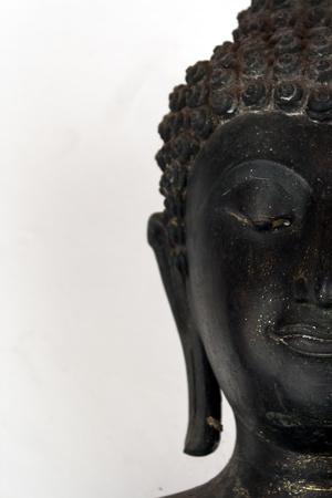 spirituell: half face buddha