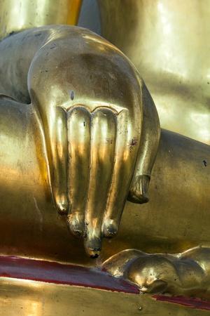 spirituell: Hand golden of the Buddha Stock Photo