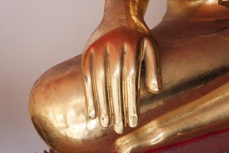 Hand golden of the Buddha Stock Photo - 12340464