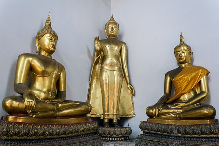 three buddha in thailand Stock Photo - 12340444