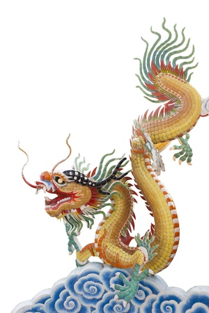 Dragon on cloud chinese photo