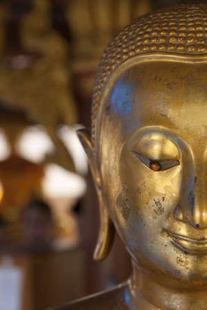 spirituell: Half face buddha Stock Photo